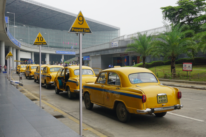 Taxi is the most efficient and secure way to downtown Kolkata.